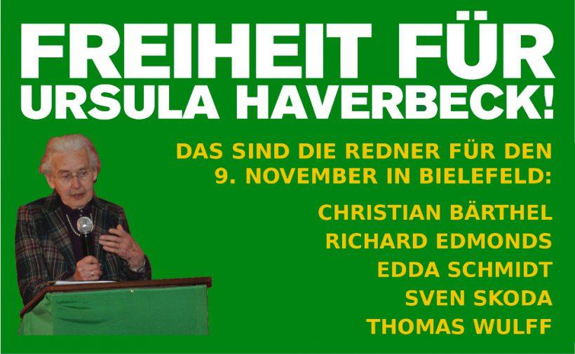 9. November: Die Redner der Ursula-Geburtstagsdemo in Bielefeld stehen fest!