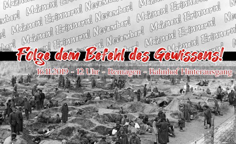 Rheinwiesenlager: November! Erinnern! Mahnen! Gedenken!
