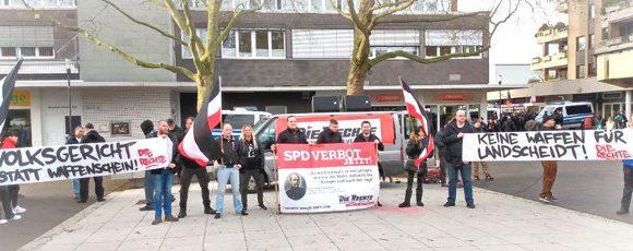Kamp-Lintfort: Breites Medieninteresse bei DIE RECHTE – Kundgebung gegen die Bewaffnung von Bürgermeister Landscheidt (SPD)!