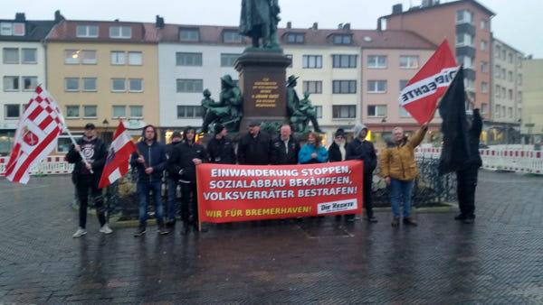 Bremerhaven: Mahnwache gegen linke Hetze durchgeführt!