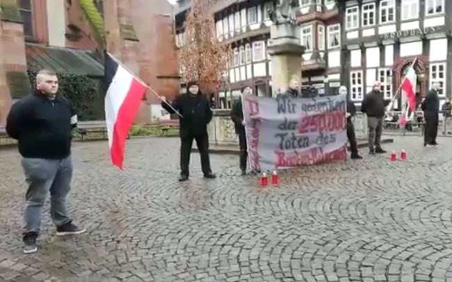 Gedenken an den Dresdner Bombenholocaust in Einbeck