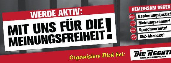 Kampagne für Meinungsfreiheit: Material ab sofort im Shop erhältlich!
