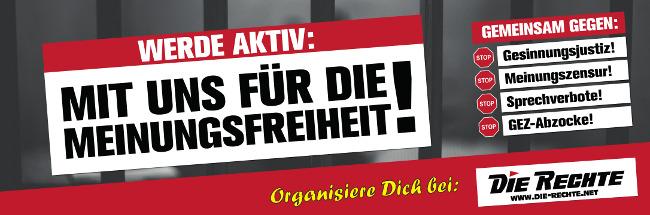 Mit uns für die Meinungsfreiheit: DIE RECHTE stellt neue Kampagne vor! [mit Video]