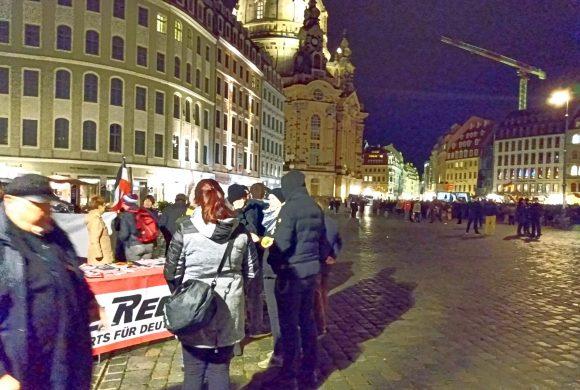 Gelungener Auftakt der Meinungsfreiheit-Kampagne bei Pegida in Dresden!