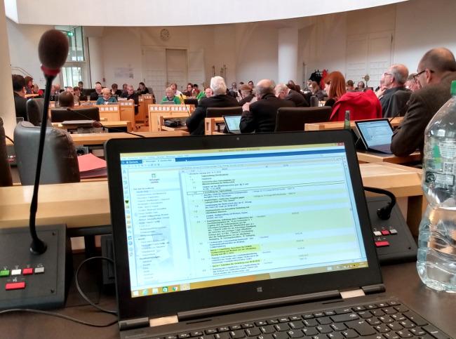 Donnerstag (13. Februar) erste Ratssitzung nach der Winterpause!