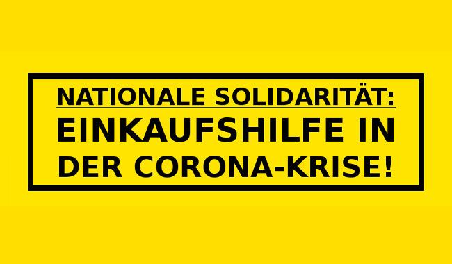 Nationale Solidarität: Ab sofort Einkaufshilfen für ältere Menschen!