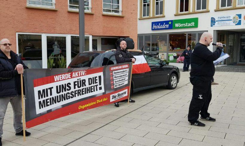 """Kampagne """"Wir für die Meinungsfreiheit"""" auch in Rheinhessen – Flugi-Verteilaktion und Kundgebungstour!"""