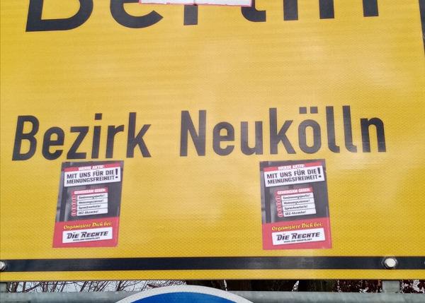 Meinungsfreiheit-Kampagne: Verteilaktion in Berlin-Neukölln!