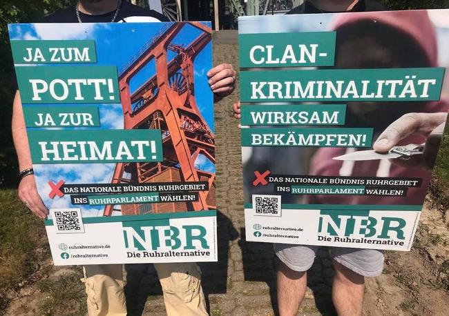 Nationales Bündnis Ruhrgebiet stellt erste Wahlplakate vor!