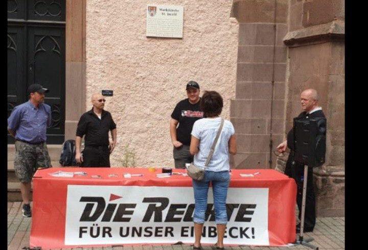 Infotisch in Einbeck