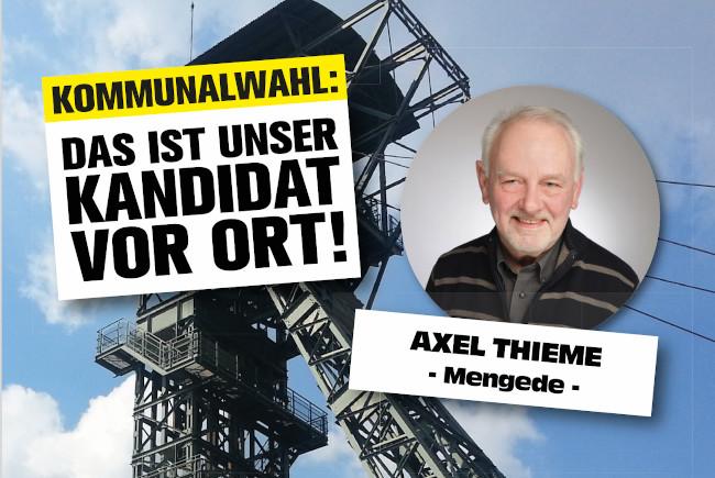 Mengede Kommunalwahl: Kandidaten für die Bezirke – Axel Thieme (Mengede)