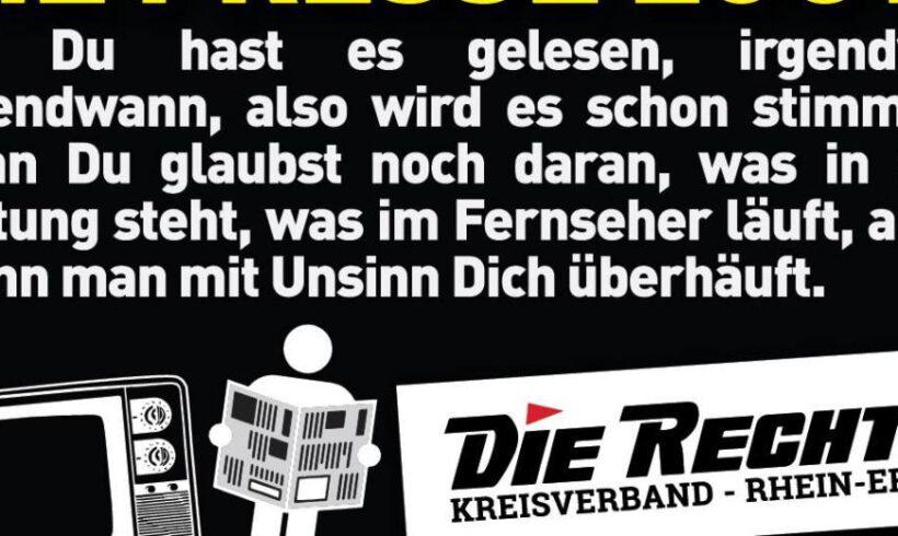 NRW: Hetze gegen die Partei DIE RECHTE
