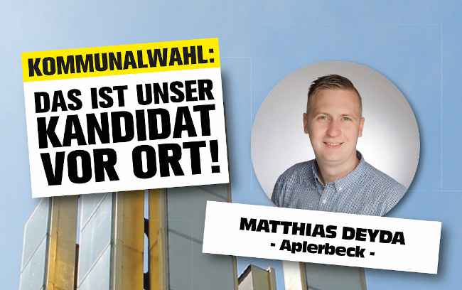 Kommunalwahl: Kandidaten für die Bezirke – Matthias Deyda (Aplerbeck)