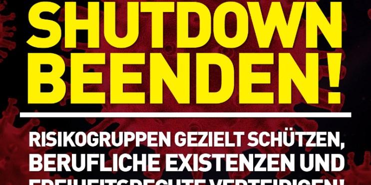 Erneuter Lockdown (Shutdown) tritt in Kraft. Die Katastrophe ist vorprogrammiert.