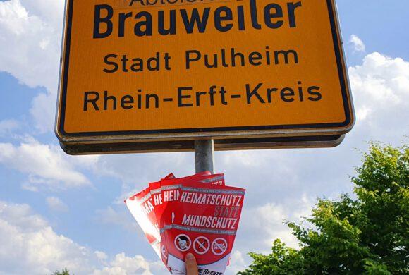Pulheim: Erfolgreiche Flugblattverteilung durchgeführt